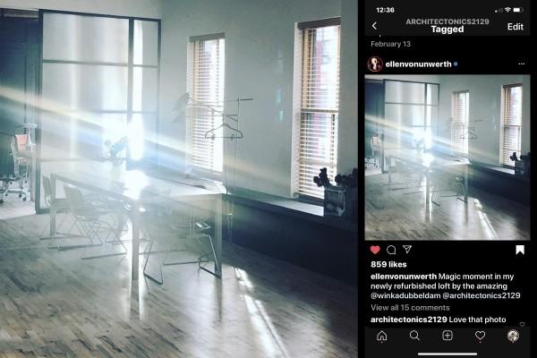 Ellen Von Unwerth photographs her own apartment!