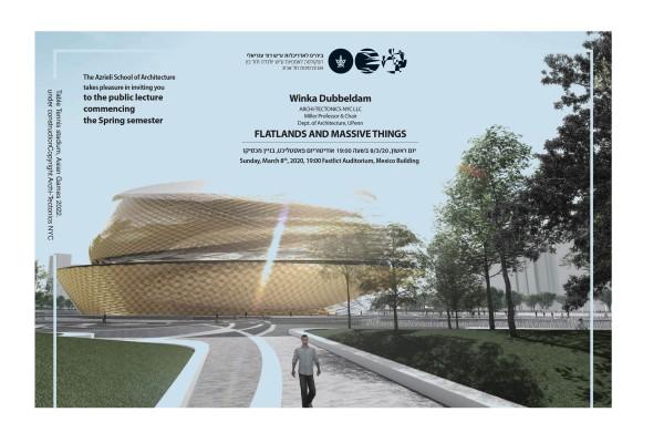 Winka to lecture at the David Azrieli School of Architecture in Tel Aviv